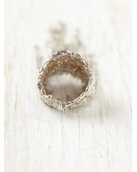 Free People - Metallic Lava Chain Ring - Lyst