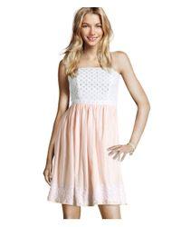 H&M Natural Broderie Dress