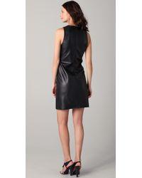 Kelly Bergin - Black Leather Shift Dress - Lyst