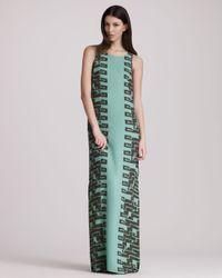 Kelly Wearstler Green Cadenza Georgette Maxi Dress