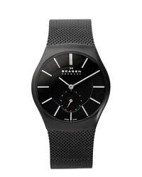 Skagen Black 916xlbsb Steel Mesh Watch  for men