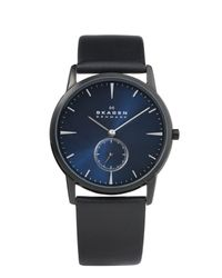 Skagen Black 958xlbln Steel Leather for men