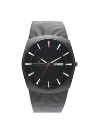Skagen Black Titanium Mesh Watch for men