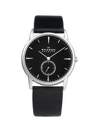 Skagen Black 958xlslb Steel Leather for men