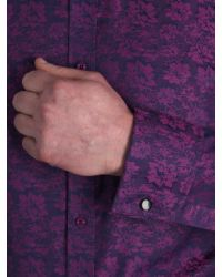 Alexandre Savile Row Purple Jaquard Slim Fit Formal Shirt for men