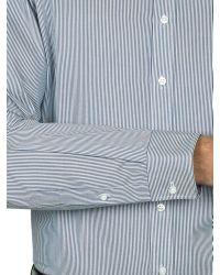 Alexandre Savile Row Gray Stripe Regular Fit Shirt for men