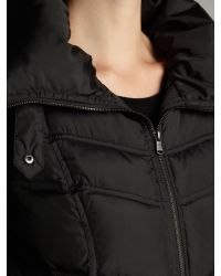 Andrew Marc Black Funnel Neck Padded Jacket