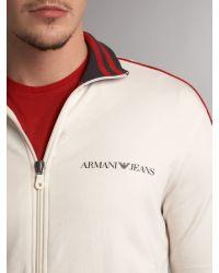 Armani Jeans Natural Retro Tracksuit Top for men