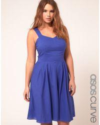ASOS Blue Asos Curve Midi Summer Dress