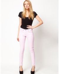 ASOS Collection - Pink Asos Petite Exclusive Lilac Skinny Jeans - Lyst