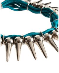ASOS - Metallic Asos Spiked Cord Friendship Bracelet - Lyst