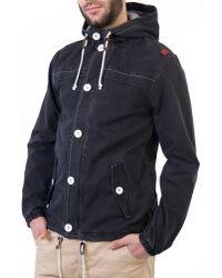 Beck & Hersey Blue Boater Jacket with Hood for men