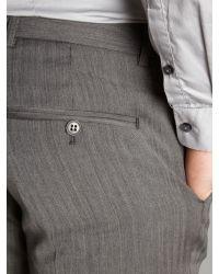 Ben Sherman Gray Plain Camden Fit Suit Trousers for men
