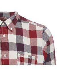 Ben Sherman Purple Brushed Oxford Gingham Shirt for men