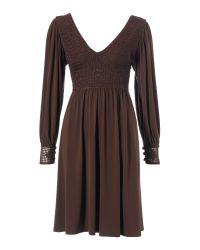 Biba Brown Short Crochet Dress