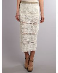 Bolongaro Trevor White Lace Tube Skirt