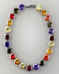 Bottega Veneta | Metallic Crystal Necklace | Lyst