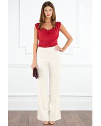 Coast Red Jenny Ruched Jersey Top