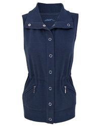 Dash Blue Denim Look Jersey Gilet