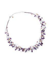Kit Heath - Purple Amethyst Lavender Pearl and Swarovski Crystal Necklace - Lyst