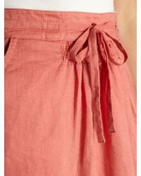 Dickins & Jones Pink Linen Drawstring Skirt