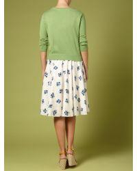 Dickins & Jones Green Ladies Knitted Crew Cardigan