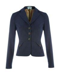 Dickins & Jones Blue Ladies Peplum Bazer Jacket