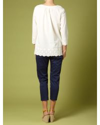 Dickins & Jones White Ladies Gypsy Top