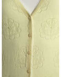 Dickins & Jones Yellow Ladies Knitted Pointelle Cardigan