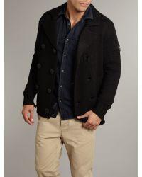 DIESEL K Porto Double Breasted Cardigan Black for men