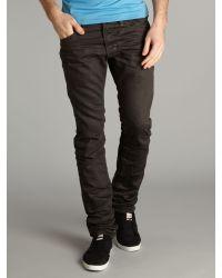 DIESEL Gray Travar 8qu Tapered Jeans for men