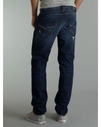 DIESEL Blue Larkee 886t Relaxed Jeans for men