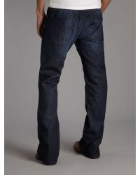 DIESEL Blue Zathan 74w Bootcut Jeans for men
