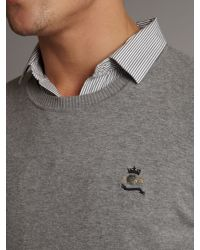 DIESEL Gray Mens Crew Neck Knitted Jumper for men