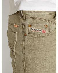 DIESEL Gray Lakop Jeans for men