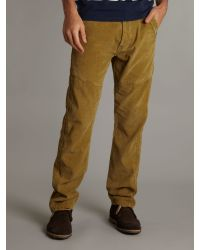 Duck and Cover Yellow Carrot Shaped Cordurouy Trousers for men