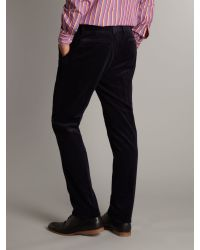 Fred Perry Blue Slim Cord Trouser for men