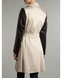 Helene Berman Natural Double Breast Detail Trench Coat
