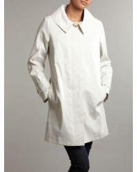 Helene Berman White Single Breast Concealed Button Coat