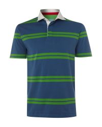 Howick | Blue Stanyan Striped Rugby Shirt for Men | Lyst