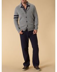 Howick Gray College Hoop Shawl Neck for men