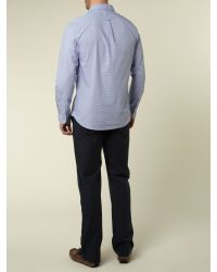 Howick Blue Fine Stripe Trouser for men