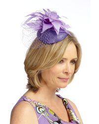 Jacques Vert Purple Pansy Dome Hat Fascinator