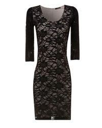 Jane Norman Black Lace Sequin Dress