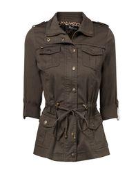 Jane Norman Gray 4 Pocket Waisted Jacket