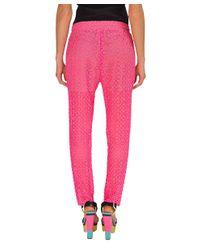 Jo No Fui | Pink Lace Jogging Pants | Lyst