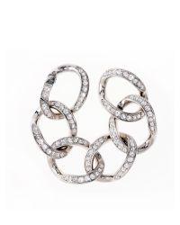 Karen Millen | Metallic Karen Millen Encrusted Link Bracelet | Lyst