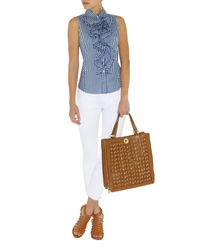 Karen Millen White Skinny Zip Capri Jean