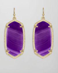 Kendra Scott | Elle Earrings Purple Agate | Lyst