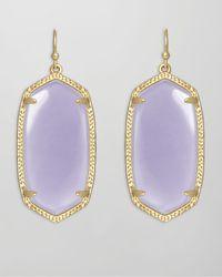Kendra Scott | Purple Elle Earrings Lilac | Lyst